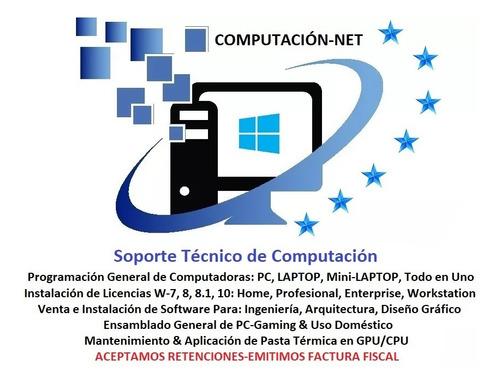 servicio técnico computadora formateo pc laptop a domicilio