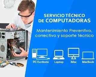 servicio técnico computadora pc laptop redes a domicilio