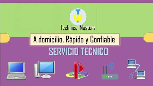 servicio técnico computadora pc, laptop,formateo a domicilio