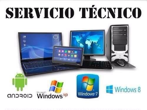 servicio técnico computadora pc, laptop,formateo domicilio