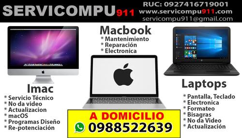 servicio tecnico computadoras laptop redes mac domicilio