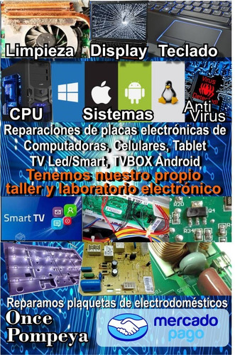 servicio tecnico computadoras netbook notebook tablet