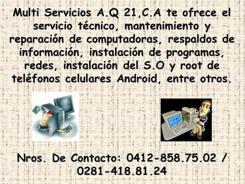 servicio técnico computadoras pc, laptop, formateo windows