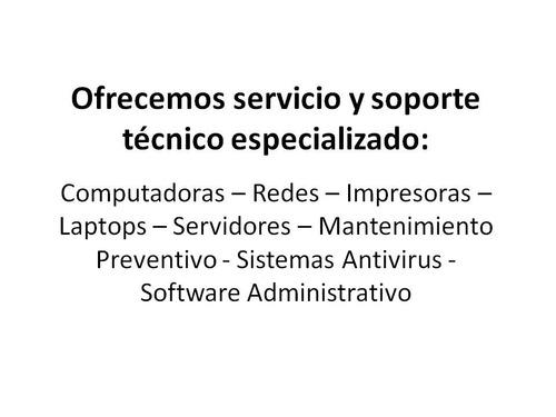 servicio tecnico computadoras y redes