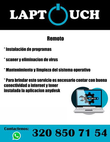 servicio tecnico computadores remoto y domicilio