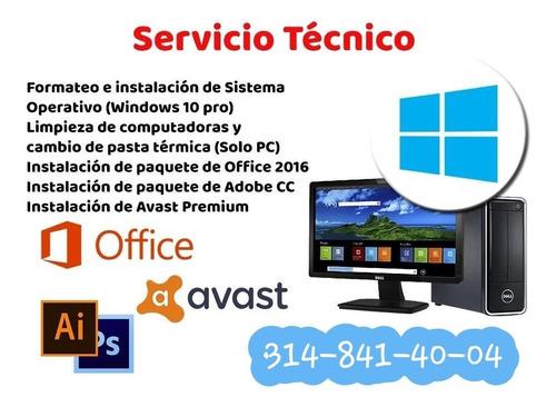 servicio técnico computadores y/o portátiles a domicilio