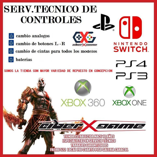 servicio tecnico consolas y cotroles ps3-ps4-switch -xbox