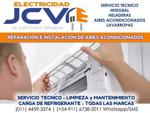 servicio tecnico de aire acondicionado heladeras lavarropas