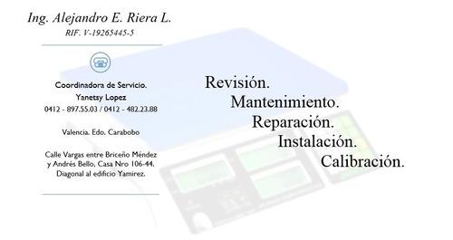 servicio técnico de balanzas. mantenimiento y reparaciones.