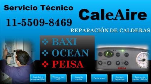 servicio técnico de calderas baxi, ocean y peisa