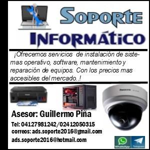 servicio técnico de computación y sistema de seguridad.