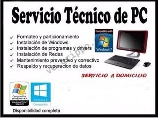 servicio técnico de computadoras empresas, negocios,hogar