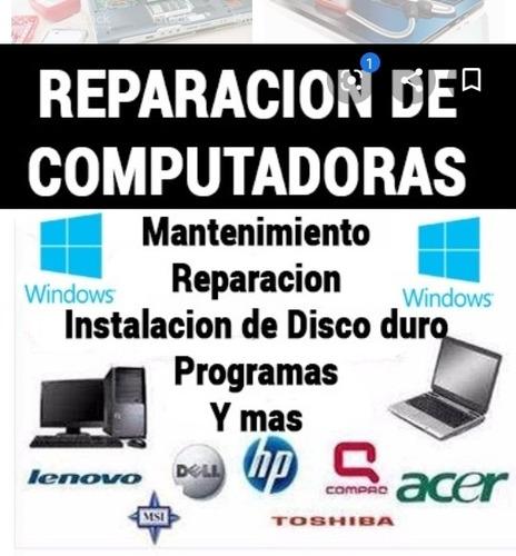 servicio tecnico de computadoras formateo