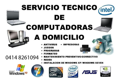 servicio técnico de computadoras laptop, pc windows