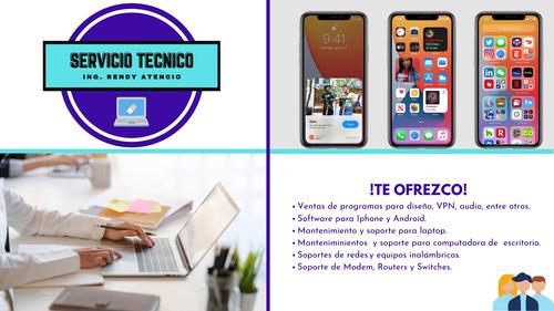 servicio tecnico de computadoras, laptops, iphone, android