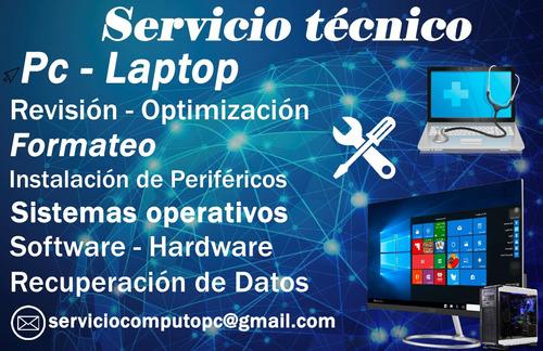 servicio técnico de computadoras pc - laptop