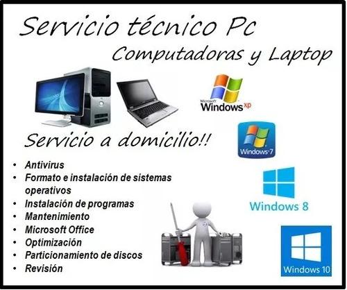 servicio tecnico de computadoras y laptops