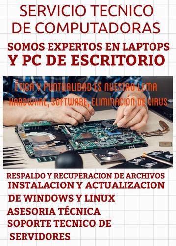 servicio técnico de computadoras y servidores