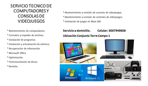 servicio técnico de computadores y consolas de videojuegos