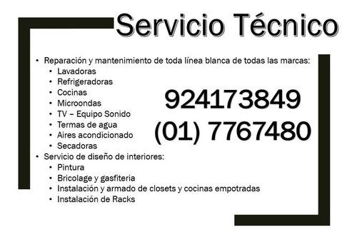 servicio técnico de electrodomésticos lavadoras tv
