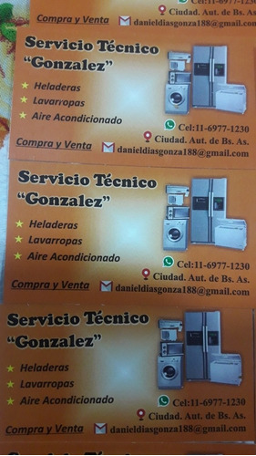 servicio técnico de heladeras y lavarropa