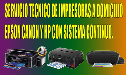 servicio tecnico de impresoras a domicilio y ventas