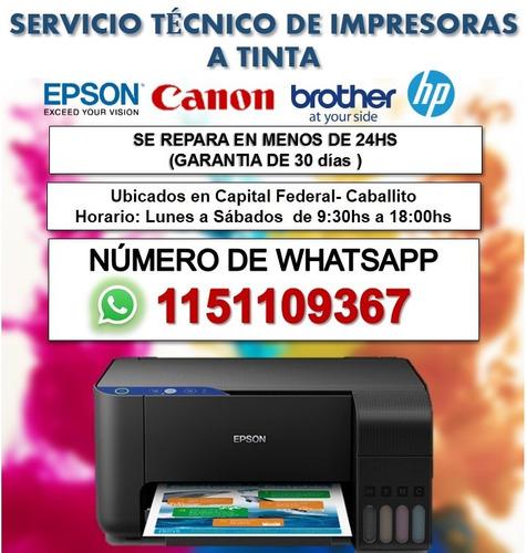 servicio técnico de impresoras epson-  brother - canon,- hp