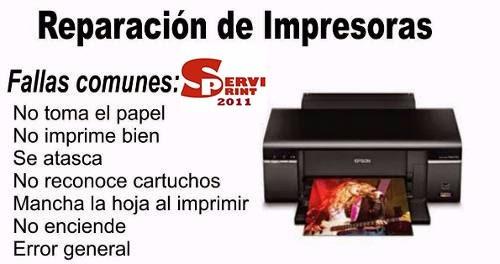 servicio tecnico de impresoras epson serviprint2011