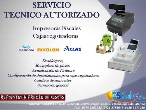 servicio tecnico de impresoras fiscales y cajas registradora