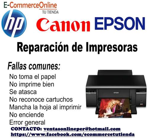 servicio técnico de impresoras hp, canon, epson a domicilio?