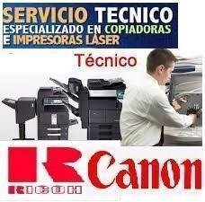 servicio técnico de impresoras laser, ricoh, hp, canon y mas
