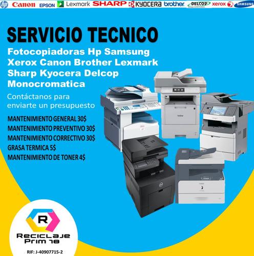 servicio tecnico de impresoras y fotocopiadoras