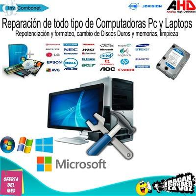 servicio tecnico de laptops y computadoras