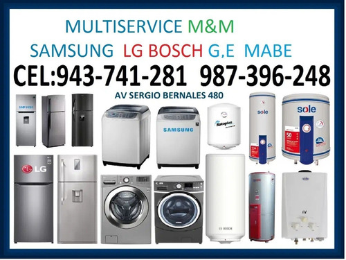 servicio técnico de lavadoras refrigeradoras  samsung  lg