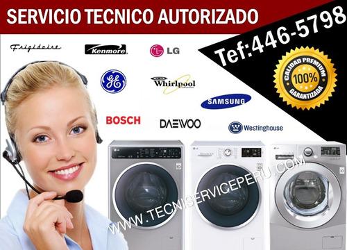 servicio técnico de  lavadoras secadoras bosch daewoo mabe