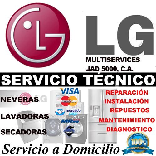 servicio técnico de neveras digitales lg a domicilio