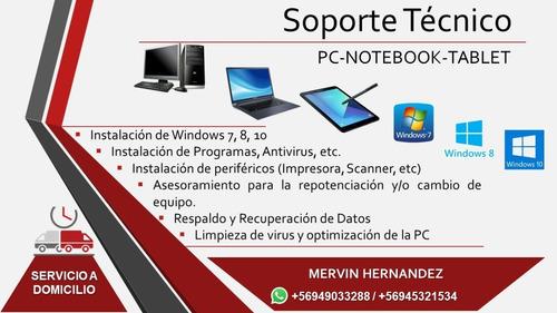 servicio técnico de notebooks pc tablet celulares a domicili