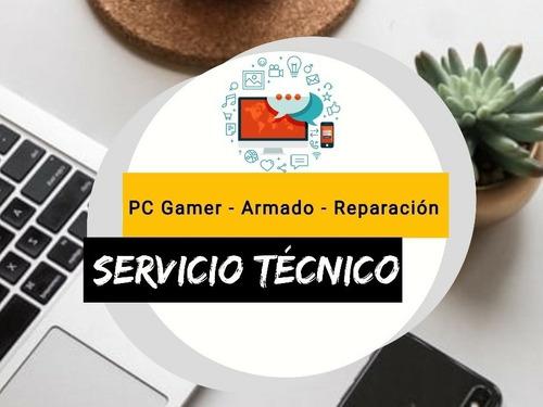 servicio técnico de pc gamer, actualización, reparación, etc