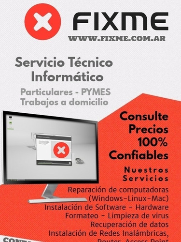 servicio técnico de pc - notebook - servers a domicilio