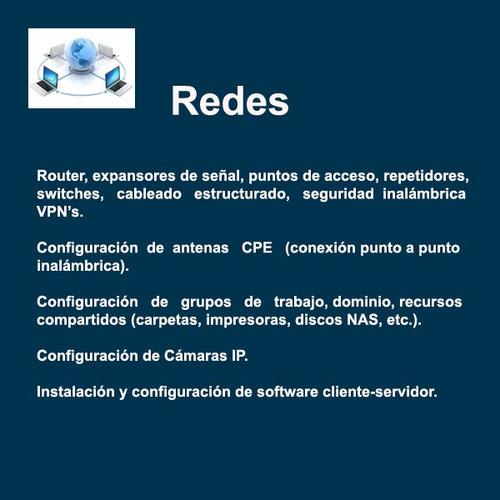 servicio tecnico de pc reparacion de pc, redes