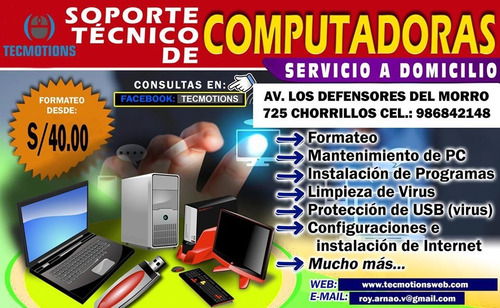 servicio tecnico de pc y laptop