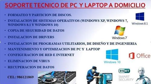 servicio técnico de pc y laptop