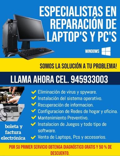 servicio técnico de pc y laptop pucallpa
