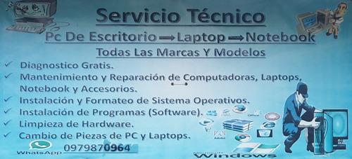 servicio técnico de pc y laptops a domicilio