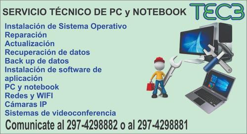 servicio técnico de pc y notebook