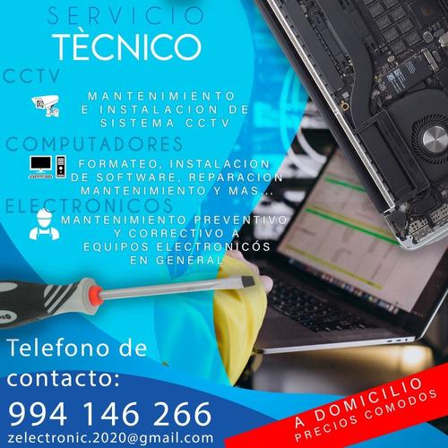 servicio técnico de pc`s, electricidad y electrónica.