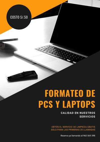 servicio técnico de pcs y laptops