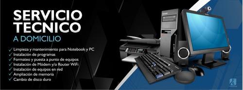 servicio tecnico de pcs y notebook