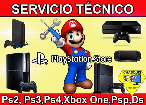 servicio tecnico de play station 1, 2 y 3
