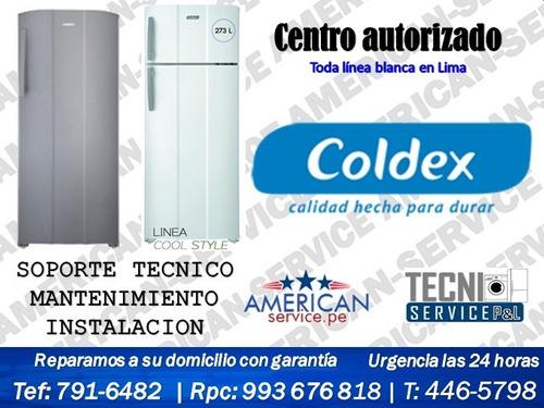 servicio tecnico de refrigeradoras cocinas coldex todo lima